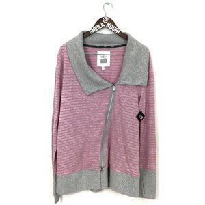 Victoria's Secret | Pink/Gray Zip Up Sweater- NWT